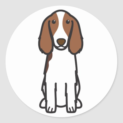 Dibujo animado del perro del perro de aguas de pegatina redonda