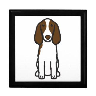 Dibujo animado del perro del perro de aguas de sal caja de regalo