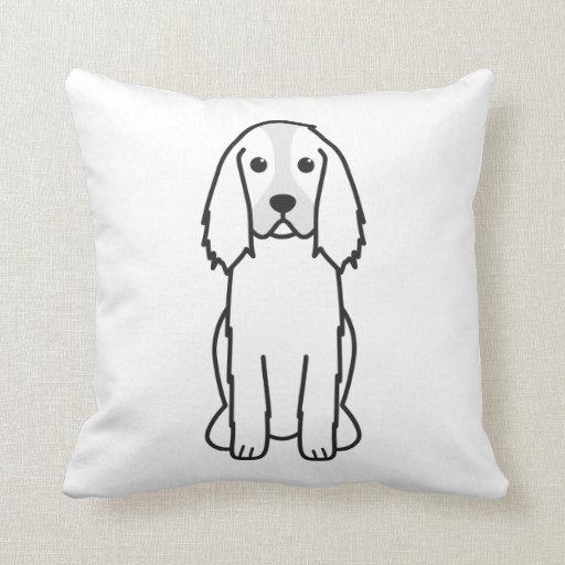 Dibujo animado del perro del perro de aguas de sal almohada