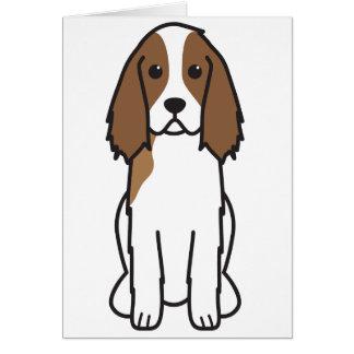 Dibujo animado del perro del perro de aguas de sal tarjeton