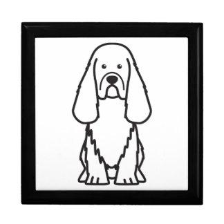 Dibujo animado del perro del perro de aguas de Sus Cajas De Recuerdo