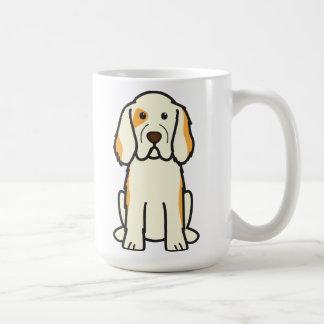 Dibujo animado del perro del perro de aguas de taza básica blanca