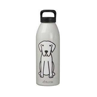 Dibujo animado del perro del perro perdiguero de b botallas de agua