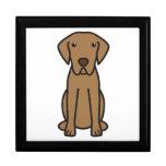 Dibujo animado del perro del perro perdiguero de b cajas de regalo