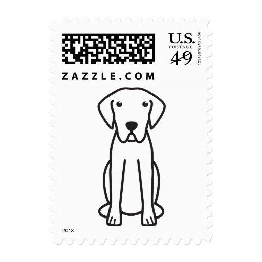 Dibujo animado del perro del perro perdiguero de envio