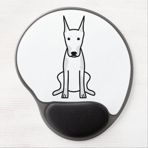 Dibujo animado del perro del Pinscher del Doberman Alfombrilla De Ratón Con Gel