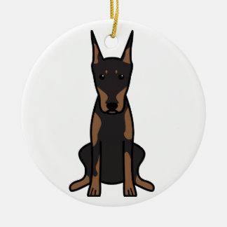 Dibujo animado del perro del Pinscher del Doberman Ornaments Para Arbol De Navidad