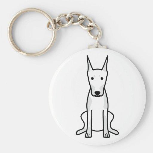 Dibujo animado del perro del Pinscher del Doberman Llaveros Personalizados