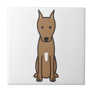 Dibujo animado del perro del Pinscher miniatura Teja Ceramica