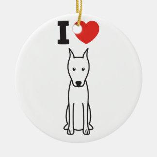 Dibujo animado del perro del Pinscher miniatura Ornamento Para Arbol De Navidad