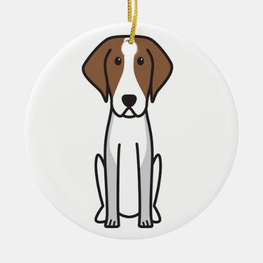 Dibujo animado del perro del raposero americano ornamentos de navidad