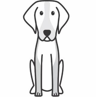 Dibujo animado del perro del raposero americano escultura fotográfica