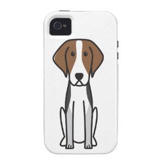 Dibujo animado del perro del raposero americano iPhone 4 funda