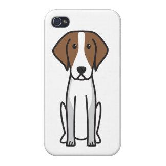 Dibujo animado del perro del raposero americano iPhone 4/4S carcasas