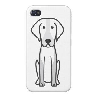 Dibujo animado del perro del raposero americano iPhone 4 cárcasa