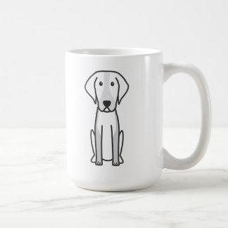 Dibujo animado del perro del raposero americano tazas