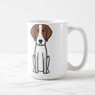 Dibujo animado del perro del raposero americano taza