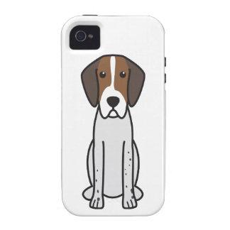 Dibujo animado del perro del raposero inglés iPhone 4 carcasa