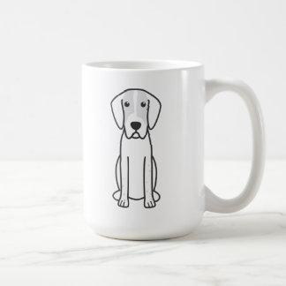 Dibujo animado del perro del raposero inglés taza
