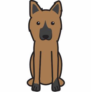 Dibujo animado del perro del rey pastor esculturas fotograficas