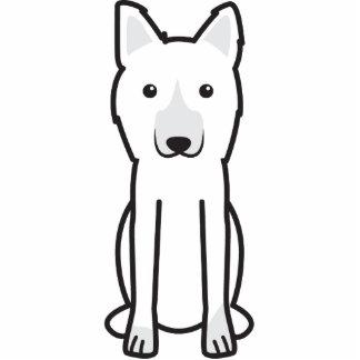 Dibujo animado del perro del rey pastor esculturas fotográficas
