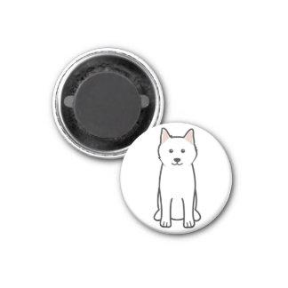 Dibujo animado del perro del samoyedo iman para frigorífico