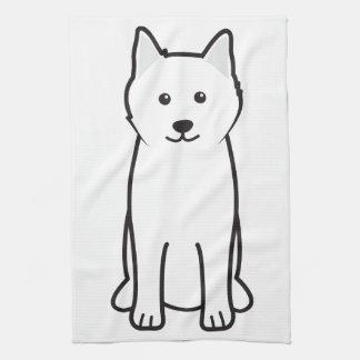 Dibujo animado del perro del samoyedo toalla