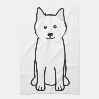 Dibujo animado del perro del samoyedo toalla de cocina
