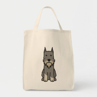Dibujo animado del perro del Schnauzer estándar Bolsa Tela Para La Compra
