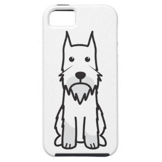 Dibujo animado del perro del Schnauzer estándar iPhone 5 Case-Mate Cárcasas