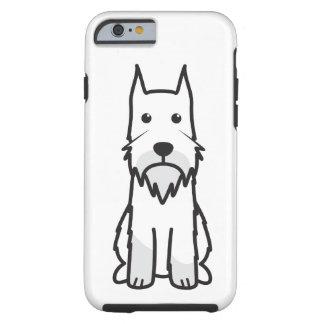 Dibujo animado del perro del Schnauzer estándar Funda De iPhone 6 Tough