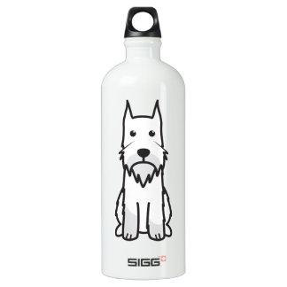Dibujo animado del perro del Schnauzer estándar