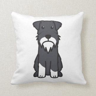 Dibujo animado del perro del Schnauzer miniatura Cojín Decorativo