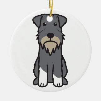 Dibujo animado del perro del Schnauzer miniatura Ornaments Para Arbol De Navidad