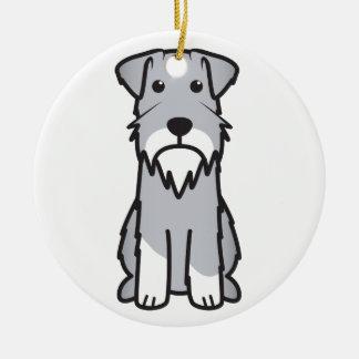 Dibujo animado del perro del Schnauzer miniatura Ornamento Para Arbol De Navidad