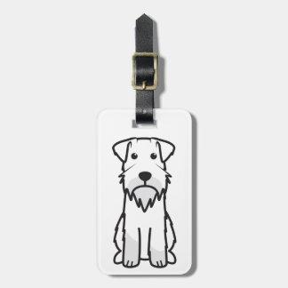 Dibujo animado del perro del Schnauzer miniatura Etiquetas Maletas