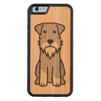 Dibujo animado del perro del Schnauzer miniatura Funda De iPhone 6 Bumper Cerezo