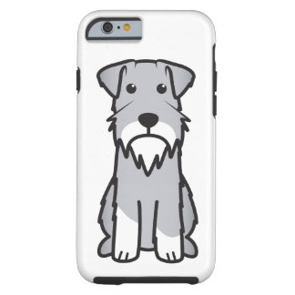 Dibujo animado del perro del Schnauzer miniatura Funda Para iPhone 6 Tough