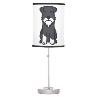 Dibujo animado del perro del Schnauzer miniatura Lámpara De Escritorio
