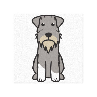Dibujo animado del perro del Schnauzer miniatura Lona Estirada Galerias