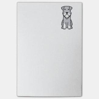 Dibujo animado del perro del Schnauzer miniatura Notas Post-it®