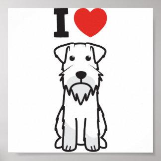 Dibujo animado del perro del Schnauzer miniatura Impresiones