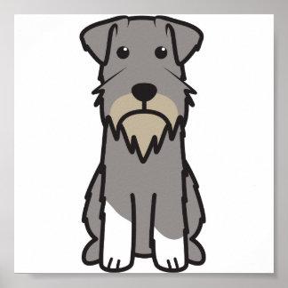 Dibujo animado del perro del Schnauzer miniatura Posters