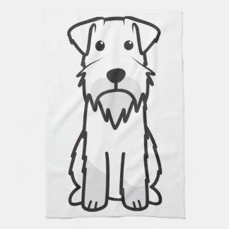 Dibujo animado del perro del Schnauzer miniatura Toalla De Cocina
