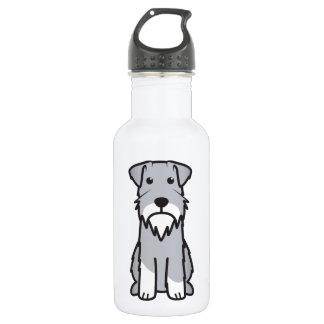 Dibujo animado del perro del Schnauzer miniatura