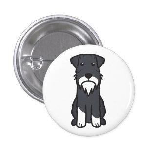 Dibujo animado del perro del Schnauzer miniatura Pins