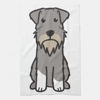 Dibujo animado del perro del Schnauzer miniatura Toalla De Mano