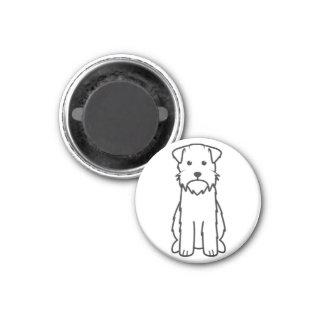 Dibujo animado del perro el señalar Griffon Wireha Imán Para Frigorifico