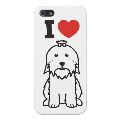 Dibujo animado del perro maltés iPhone 5 protector