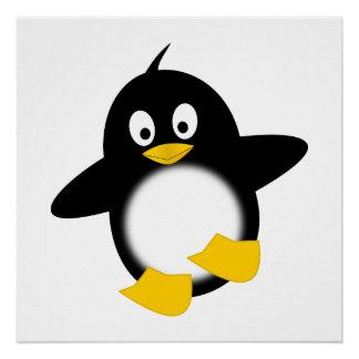 Dibujo animado del pingüino del bebé